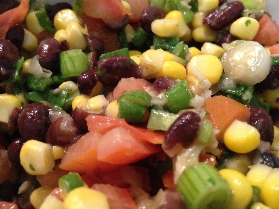 black bean and sweetcorn salsa